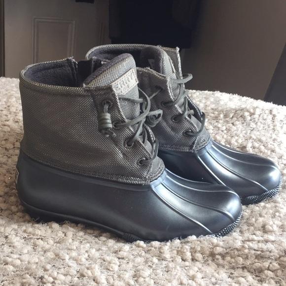 Sperry Metallic Salt Water Duck Boots